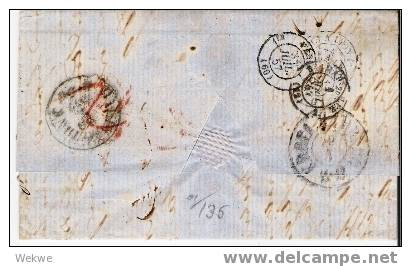 Dk-F7-008/ Kjerteminde N.ach Marseille 1857, Rayon 2 - 1851-63 (Frederik VII)