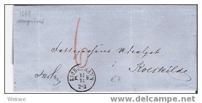 Dk-C9-004/ Vom Magistrat Copenhagen 1869 N. Roerkilde, Unfrei - 1864-04 (Christian IX)