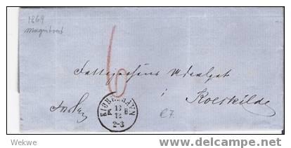Dk-C9-004/ DÄNEMARK -  Vom Magistrat Copenhagen 1869 N. Roerkilde, Unfrei - 1864-04 (Christian IX)