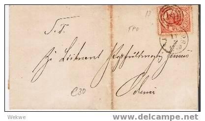 Dk-C9-008/  DÄNEMARK - Wappen 4 S.Bahnpost 181 - 1864-04 (Christian IX)