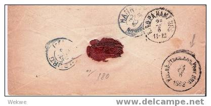 Dk-F7-009  / DÄNEMARK - Ex /Wilster Nach Hannover 1862, Per Bahnpost Flensburg-Itzehoe - 1851-63 (Frederik VII)