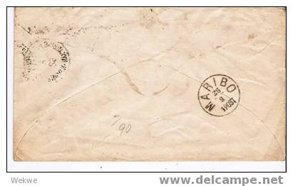 Dk-C9-011/U5 III. Kronisignien +Ziffermarke, BP Copenhagen-Nykioing - 1864-04 (Christian IX)