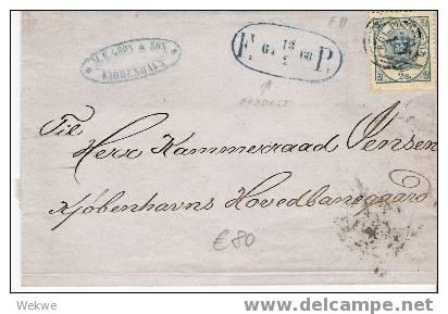 Dk-C9-016/ DÄNEMARK -  Foodpost 1868 Mit Facit 11 (2 S.) - Briefe U. Dokumente