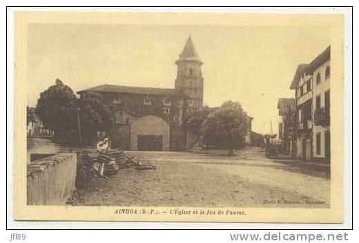 CPA - 64 - Ainhoa - L' Eglise Et Le Jeu De Paume - 11152 - France