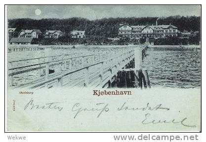 Dk-C9 025  / DÄNEMARK - Ansichtskarte / Skodsborg (Kopenhagen) Seeseite Mit Brücke 1898 - 1864-04 (Christian IX)
