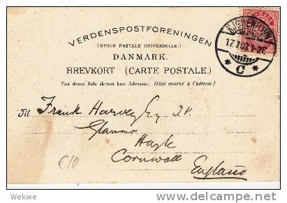 DkC9 027  DÄNEMARK - Ansichtskarte / Hilsen Havnen, Viele Schiffe 1903 - 1864-04 (Christian IX)