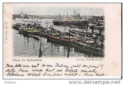 DkC9 027 Ansichtskarte / Hilsen Havnen, Viele Schiffe 1903 - 1864-04 (Christian IX)
