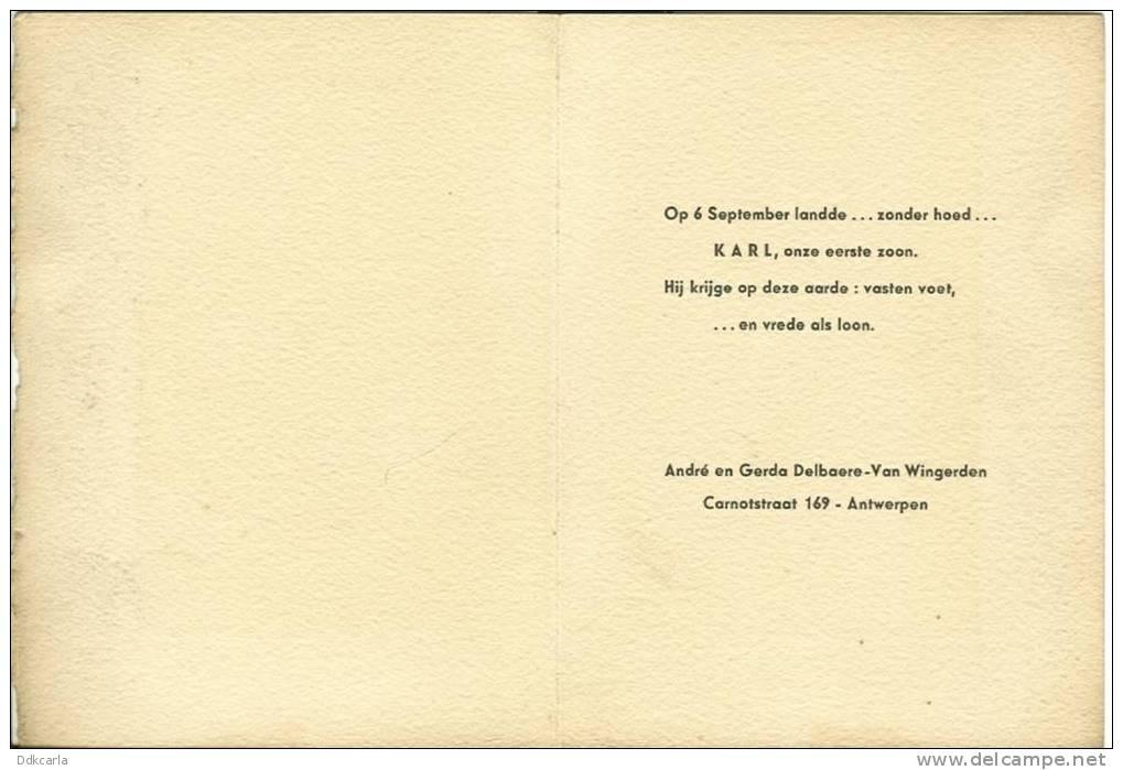 Oude Geboortekaart 1942 - Antwerpen - Faire-part
