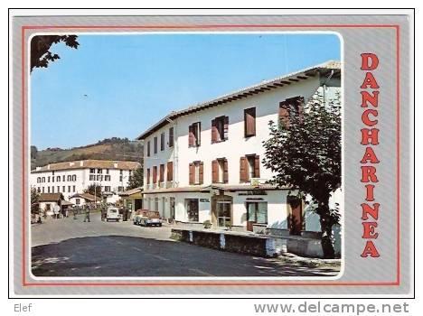 """DANCHARINEA (Navarra ), Frontière Douane Française ; Hotel """"La Vasconia """"; Renault 8 ; Animée ,TB - Aduana"""