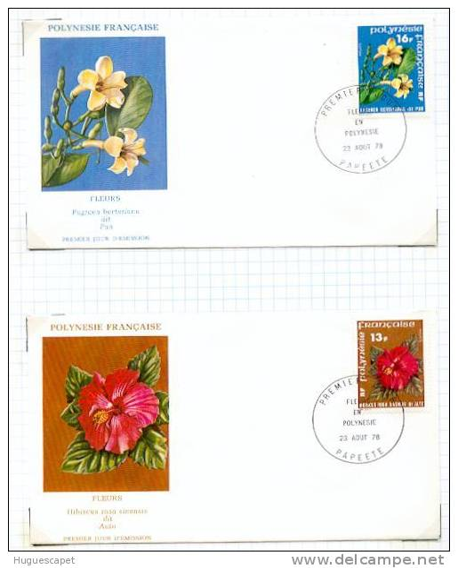 Polynésie: PJ Des N° 119 Et 120 (les Fleurs En Polynésie) - Polinesia Francesa