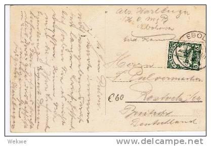 Dt-K027/ EBOLOWA, Fotokarte 10.4.1913. 5 Pfg. Yacht Hohenzollern - Kolonie: Kamerun