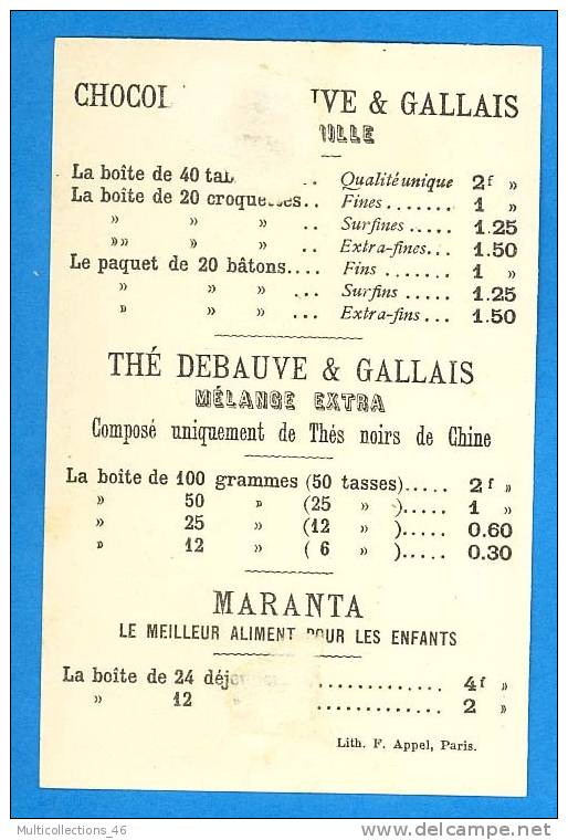 CHROMO Chocolat DEBAUVE & GALLAIS - BELGIQUE - F. Appel (drapeau Sodat Fusil Militaire Militaria) - Kaufmanns- Und Zigarettenbilder