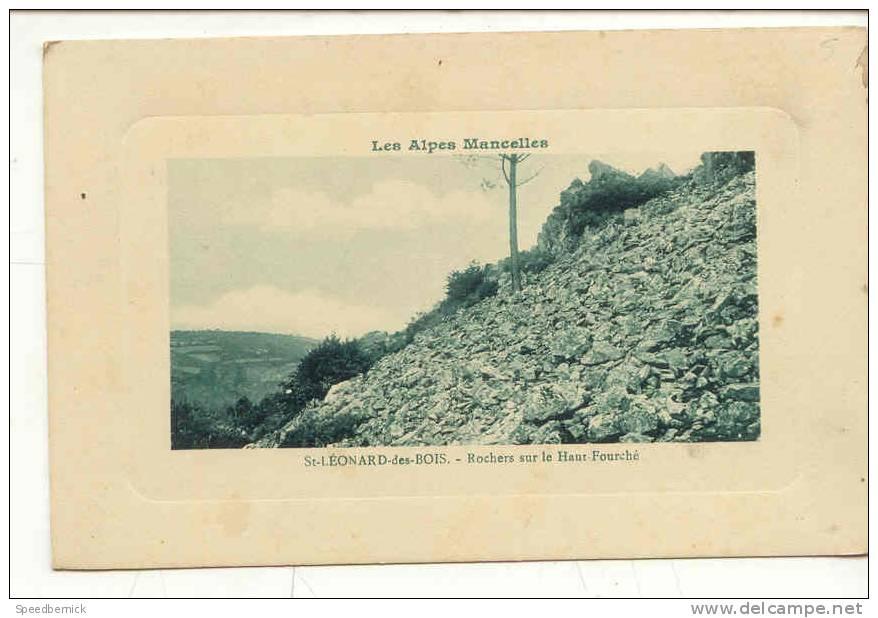 7911 Les Alpes Mancelles . Saint Léonard Des Bois . Rochers Sur Le Haut Fourche .  E.P. N°29 - France