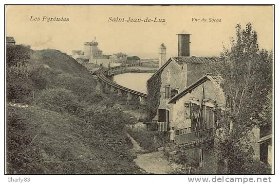 64- SAINT-JEAN-DE-LUZ -  VUE  DU  SOCOA  N197 - Saint Jean De Luz