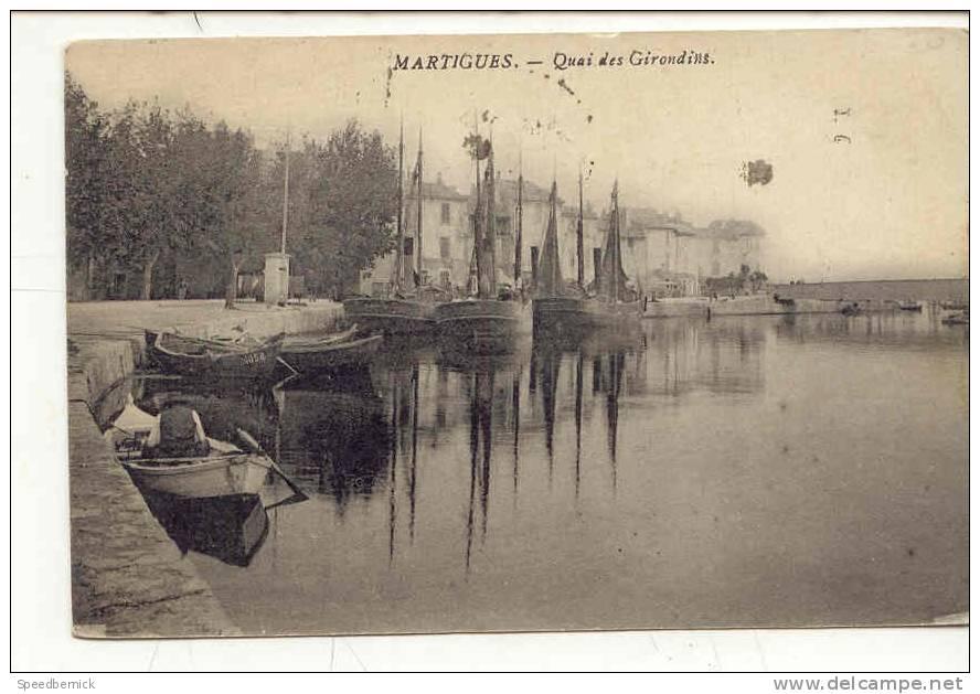 8019 Martigues Le Quai Des Girondins ; Sans éditeur Bateau Voilier - Martigues