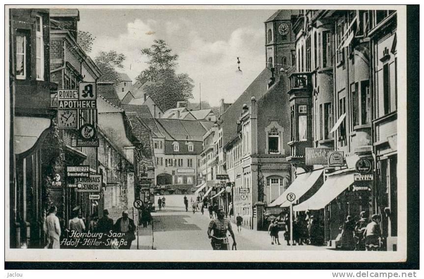 HOMBURG-SAAR STRASSE ADOLF HITLER REF 1700 - Saarpfalz-Kreis