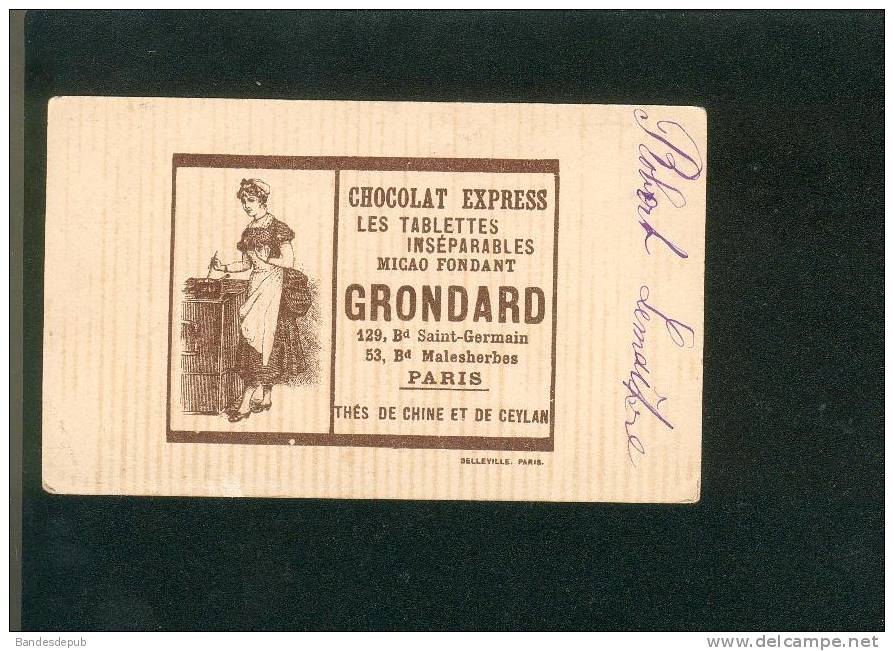 Grondard Rare Chromo Illustrée Par Guillaume Thème Pêche à La Ligne Jeune Femme - Zonder Classificatie