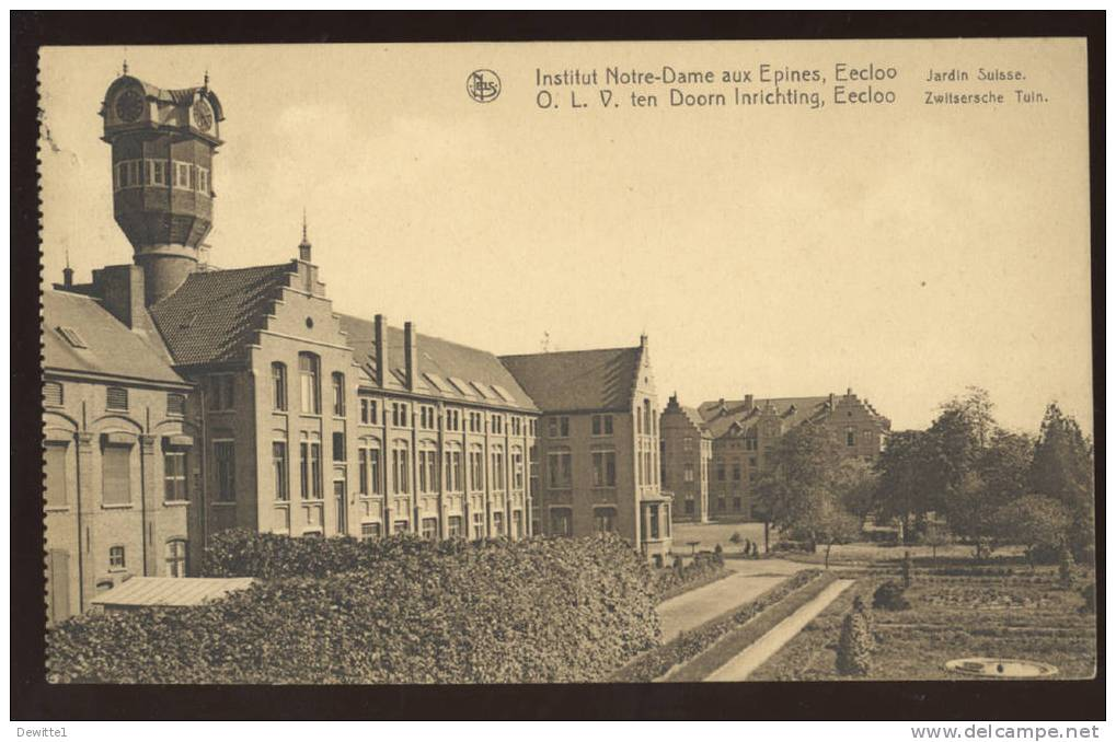 CPA  EECLOO  Institut Notre-Dame Aux Epines   Jardin Suisse - Eeklo