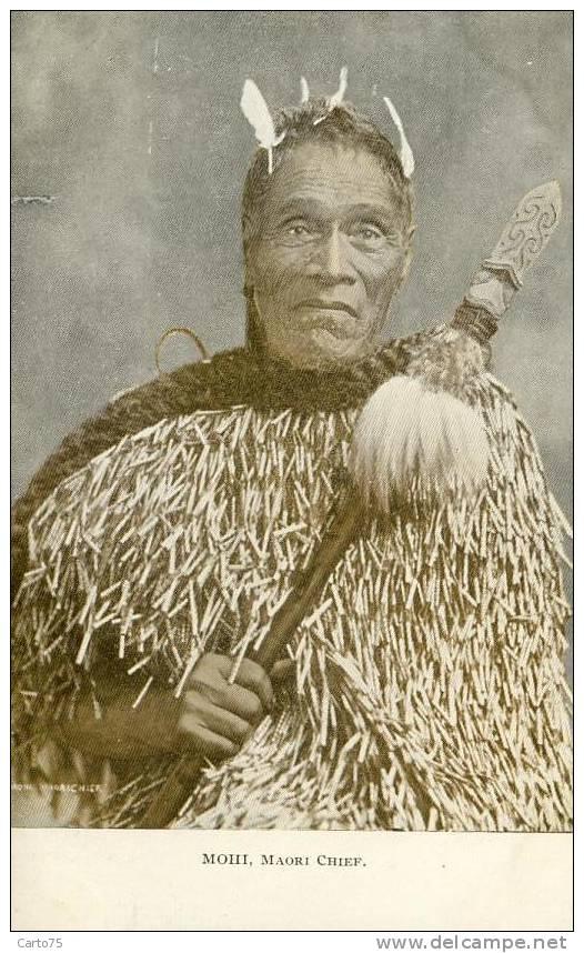 OCEANIE - Mohi, Maori Chief - Chef Maori - Guerrier - Lance - Nouvelle-Zélande