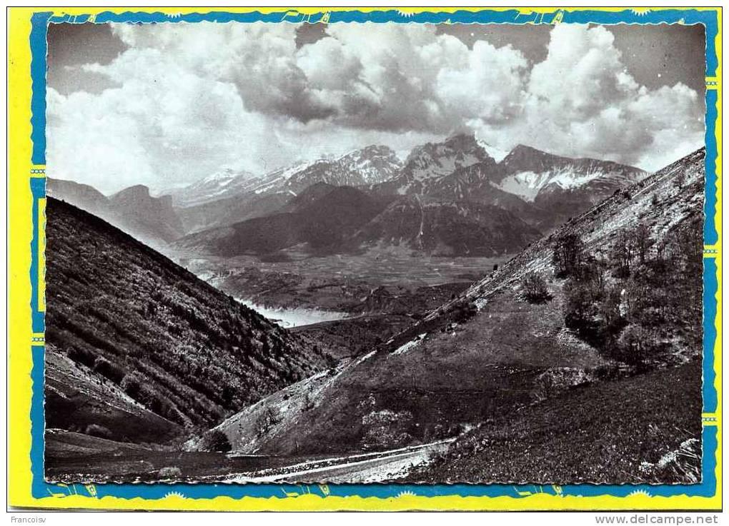 Corps Panorama Sur Lac Du Sautet Et L'Obiou Cliché Andrieux  N°32 - Corps