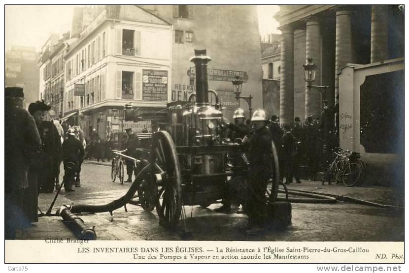 HISTOIRE - Inventaires Eglises - Religion - Pompe à Vapeur - Carte-Photo - St Pierre Gros Caillou Paris 75 - Historia
