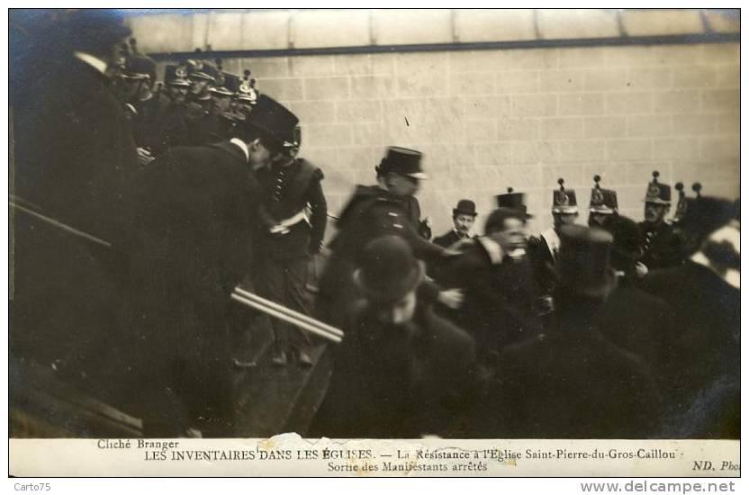 HISTOIRE - Inventaires Eglises - Religion - Militaria - Carte-Photo - St Pierre Gros Caillou Paris 75 - Historia