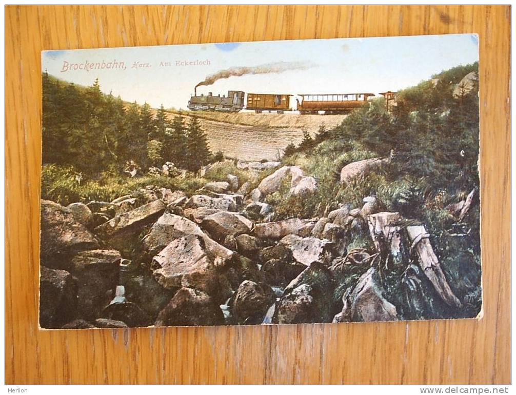 Brockenbahn , Harz Am Eckerloch Railway, Train  1915-  D2574 - Ouvrages D'Art