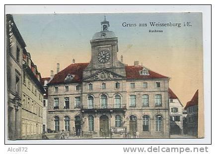 Gruss Aus WEISSENBURG : Rathaus - France