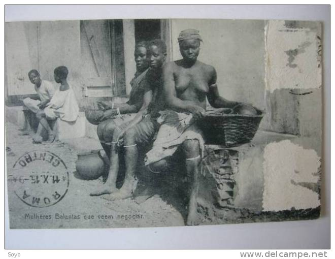 Mulheres Balantas Nues Timbres Decollés Etat - Guinea-Bissau