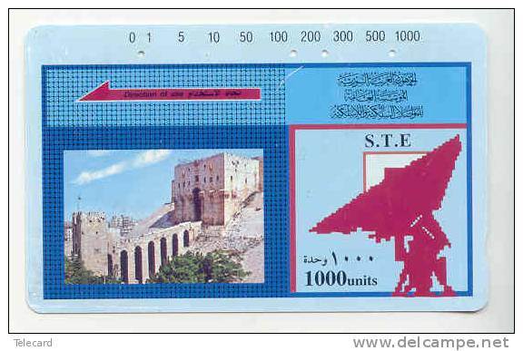 Telecarte SYRIA 1000 UNITS Satelite Dish Phonecard - Siria