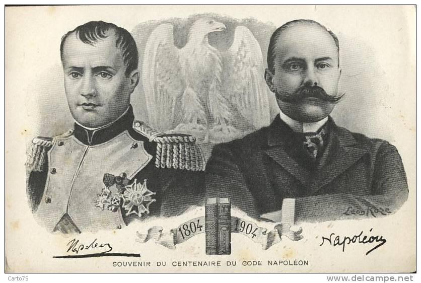 HISTOIRE - Napoléon - Centenaire Du Code Napoléon - Illustrateur Léon Roze - Médaille - Historia