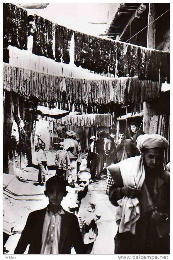 ASIE. AFGHANISTAN. KABOUL. La Rue Des Teinturiers (Laine). Carte Dentelée. - Afghanistan