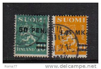 PD64 - FINLANDIA 1931 , Serie N. 168/169 - Usati