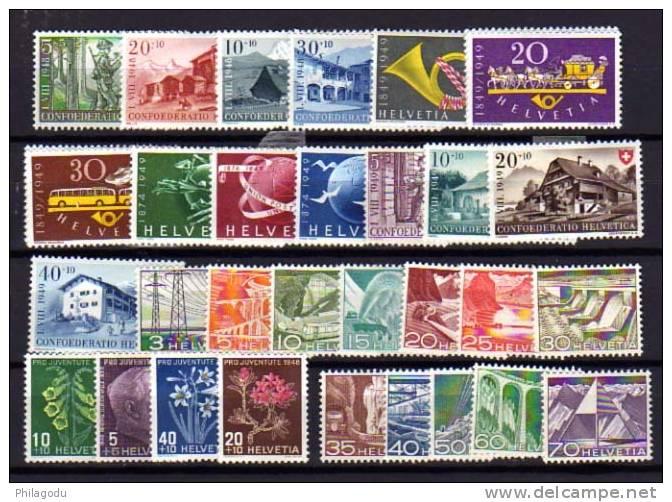 Suisse 1948-49,  Séries Neuves *  Avec Charnière,  Cote 26 € - Suisse