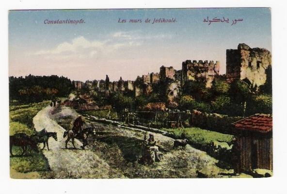 TURQUIE  /  CONSTANTINOPLE  /  LES  MURS  DE  JEDIKOULE   ( Avec Ses ânes, Chevaux Et Moutons ! ) - Ezels