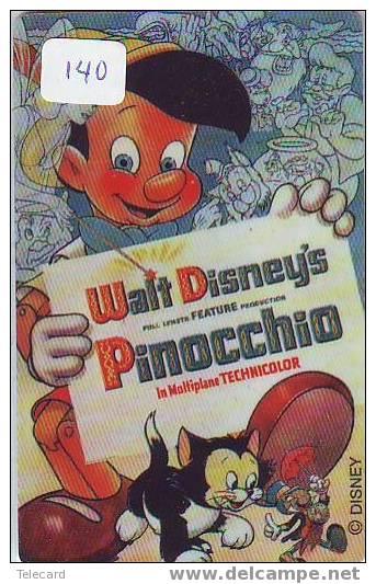Disney Op Telefoonkaart Walt Disney World Orlando USA  (140) PINOCCHIO - Disney