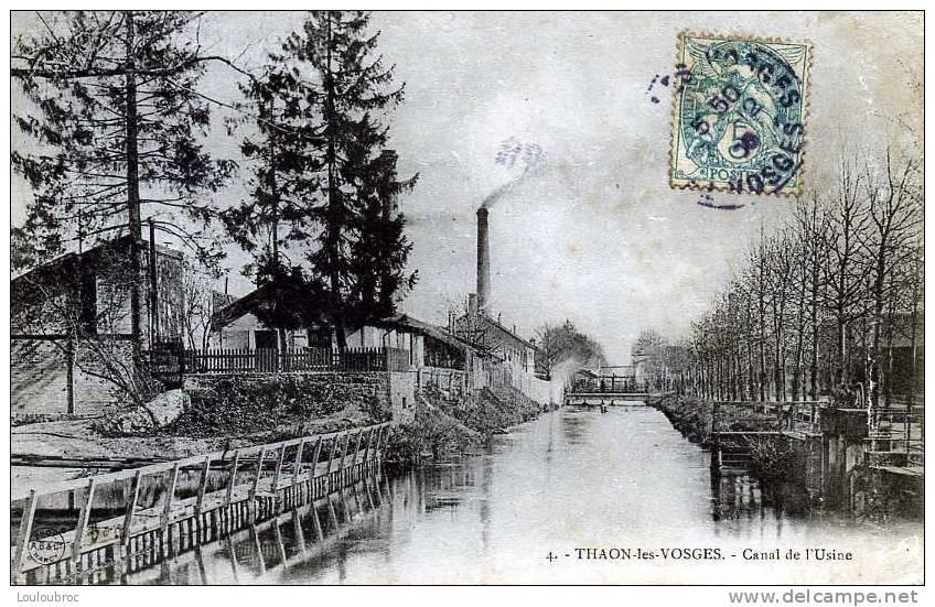 88 THAON LES VOSGES CANAL DE L'USINE A.B. ET CIE N°4 - Thaon Les Vosges