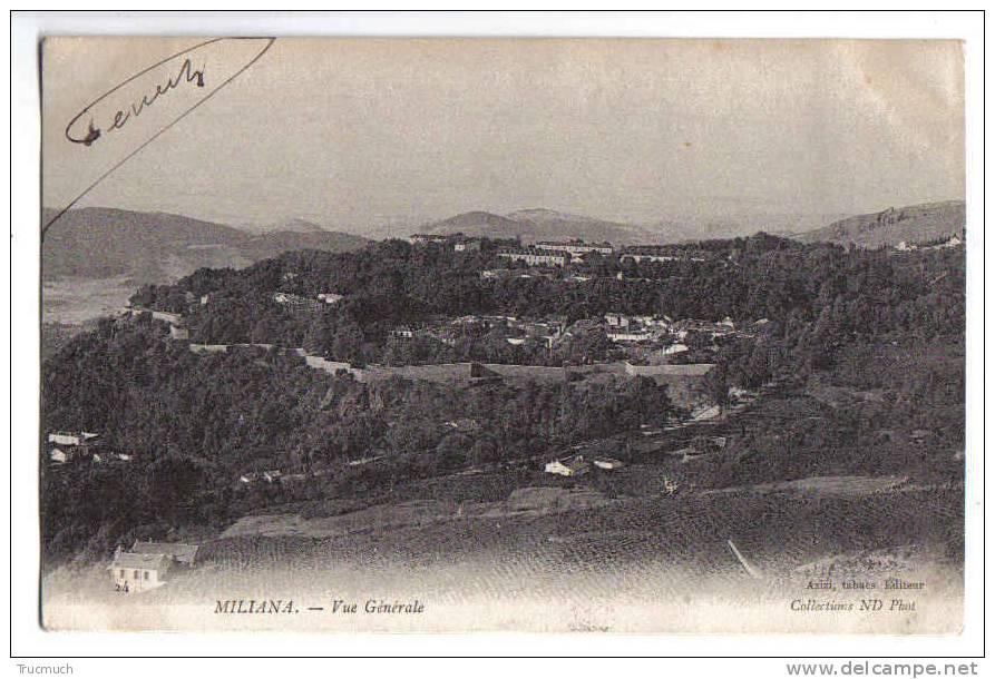 C1641 - MILIANA - Vue Générale - Algérie