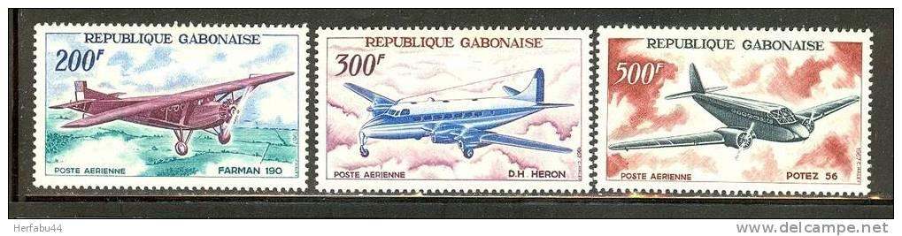 Gabon          Planes       Set      SC# C 50-52 Mint   SCV$ 21.50 - Gabon