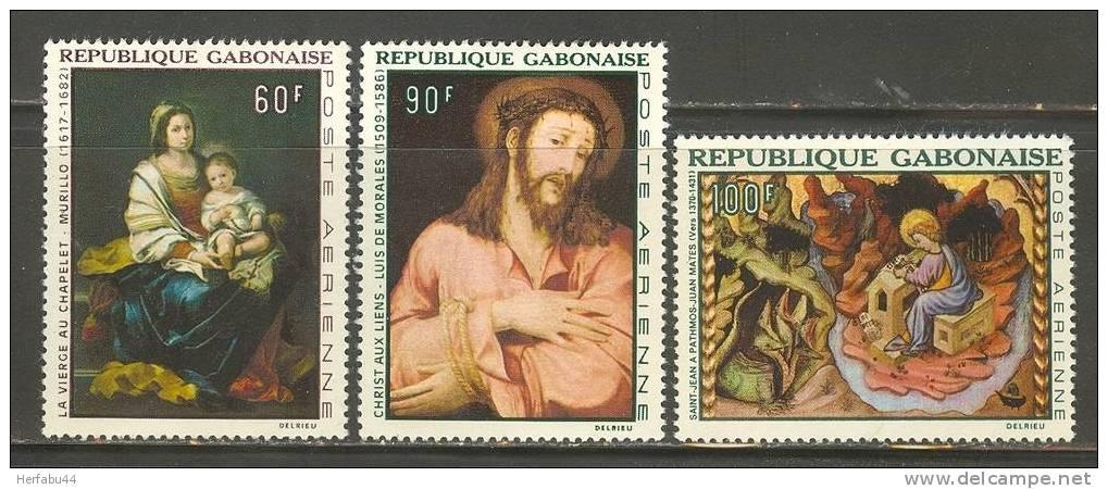 Gabon         Paintings     Set     SC# C 64-66 Mint - Gabon