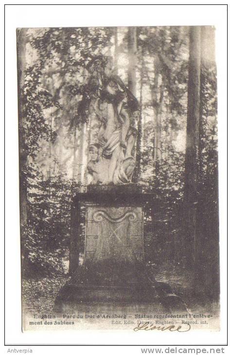 ENGHIEN_EDINGEN  Parc Du Duc D´arenberg (1910) Statue L'enlèvement Des Sabines - Enghien - Edingen