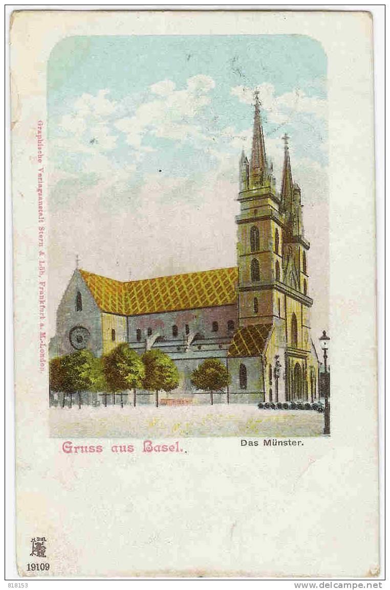 Basel  - Gruss Aus Basel - Das Münster (litho) - BS Basle-Town