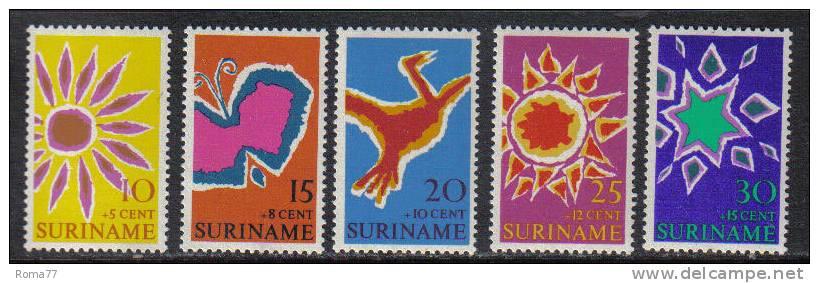 PD209 - SURINAME ,  Serie Yvert 508/512  ***   Pasqua - Suriname ... - 1975