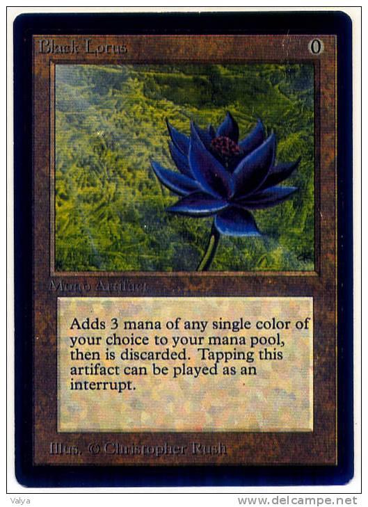 fausse carte black lotus lotus noir de magic. Black Bedroom Furniture Sets. Home Design Ideas