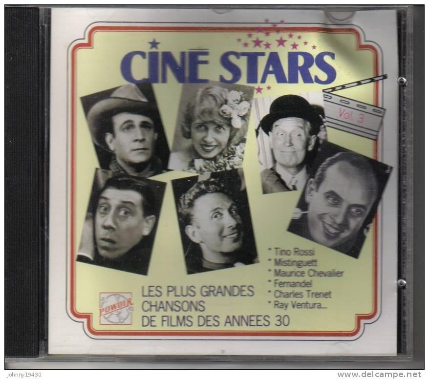 CD  CINE STARS Vol.3 - FLORELLE / GARAT / ROSSI / CHEVALIER / FERNANDEL / TRENET / VENTURA ...  - 16 TITRES - Autres - Musique Française