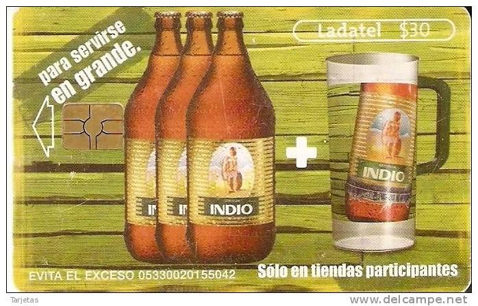 TARJETA DE MEXICO DE CERVEZA INDIO (BEER) - Alimentación