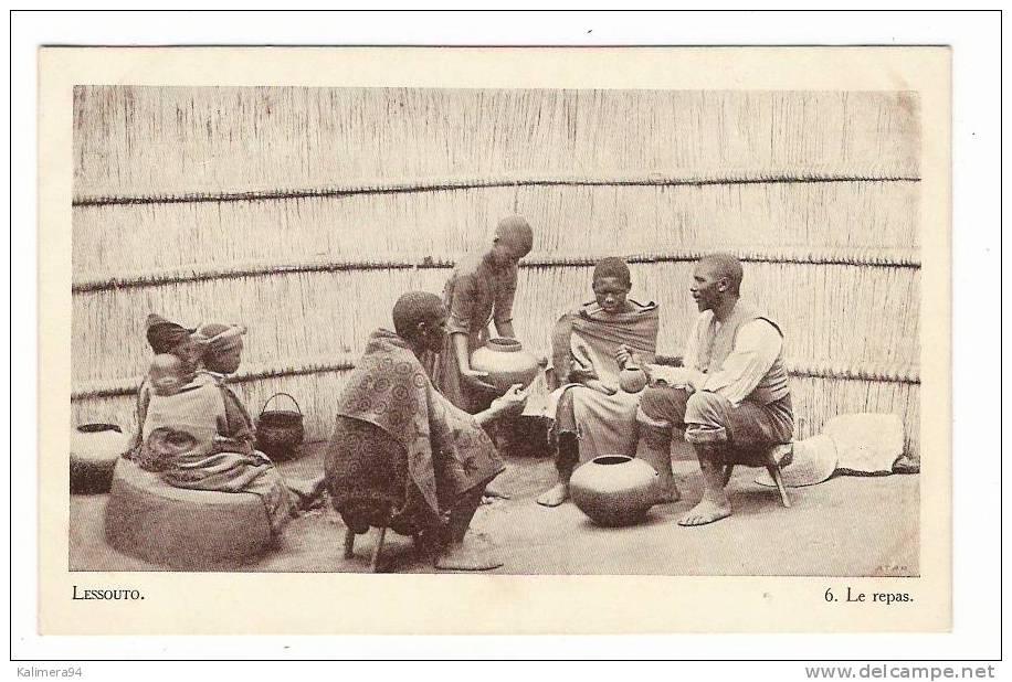 ETHNOGRAPHIE AFRICAINE / LESSOUTO  ( LESOTHO ) / LE REPAS / Cliché ATAR - Lesotho