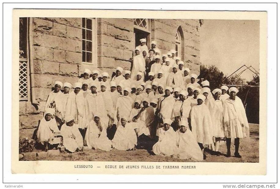 ETHNOGRAPHIE AFRICAINE / LESSOUTO  ( LESOTHO ) / ECOLE DE JEUNES FILLES DE THABANA MORENA - Lesotho