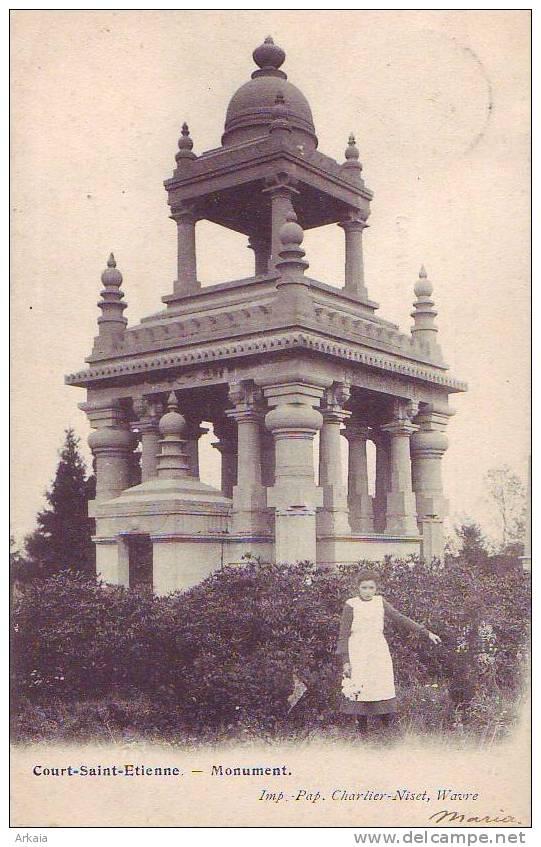COURT ST ETIENNE = Monument  (edit. Charlier) - Court-Saint-Etienne