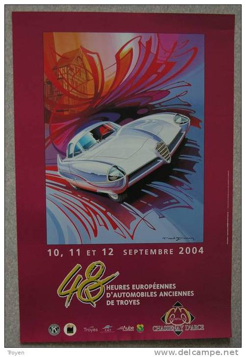 Troyes - Aube  - Automobiles Anciennes  48 H Automobiles De Troyes 2004 - Posters